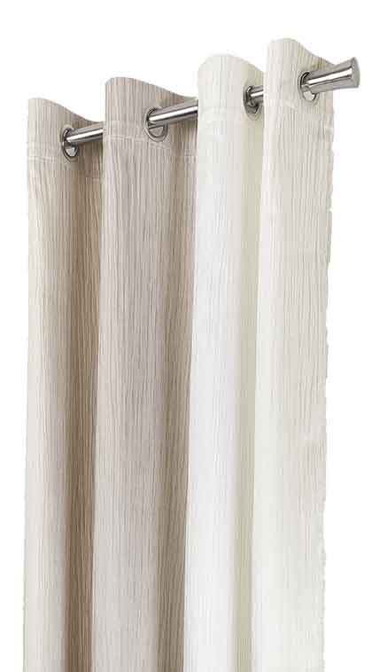 Rideau avec Couleur en Dégradé - Beige - 140 x 280 cm