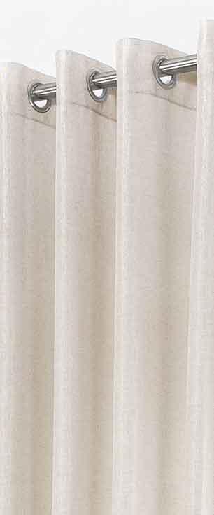 voilage uni avec effet satin lin ecru homemaison vente en ligne voilages. Black Bedroom Furniture Sets. Home Design Ideas