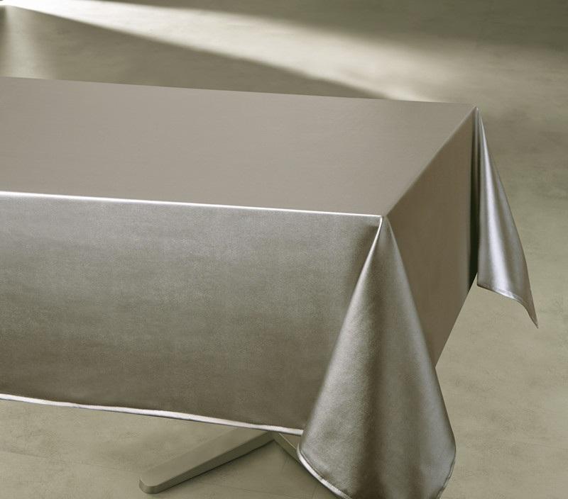 nappe enduite imperm able rectangulaire unie taupe rouge ecru argent homemaison. Black Bedroom Furniture Sets. Home Design Ideas