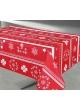 nappe enduite rectangulaire cigognes taupe rouge gris homemaison vente en ligne. Black Bedroom Furniture Sets. Home Design Ideas