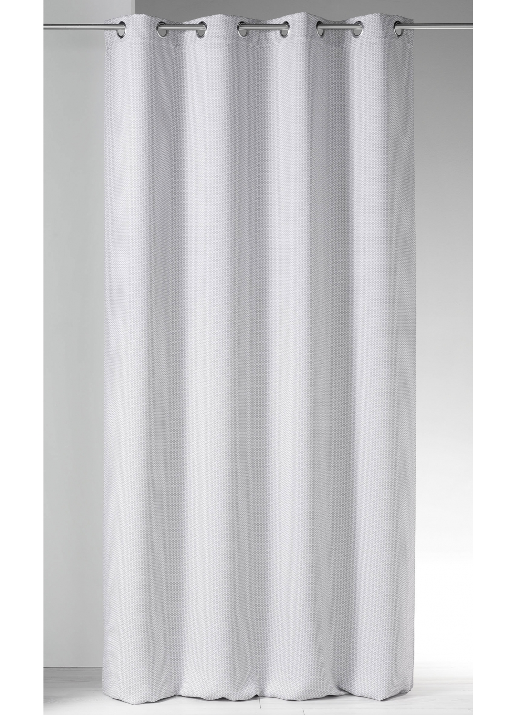 Rideau obscurcissant imprim s tomettes gris for Rideaux imprimes