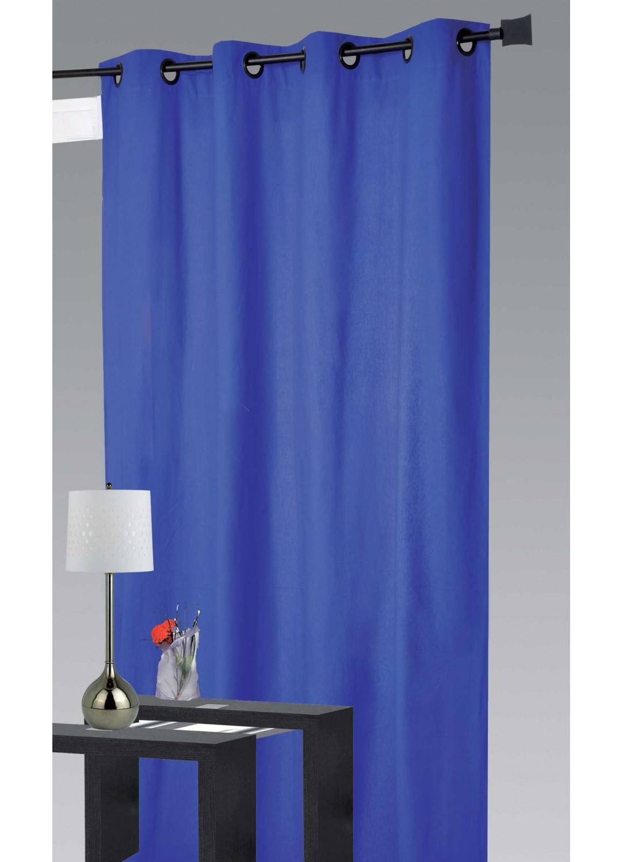 Rideau 80 % Occultant Grande Largeur (Bleu)