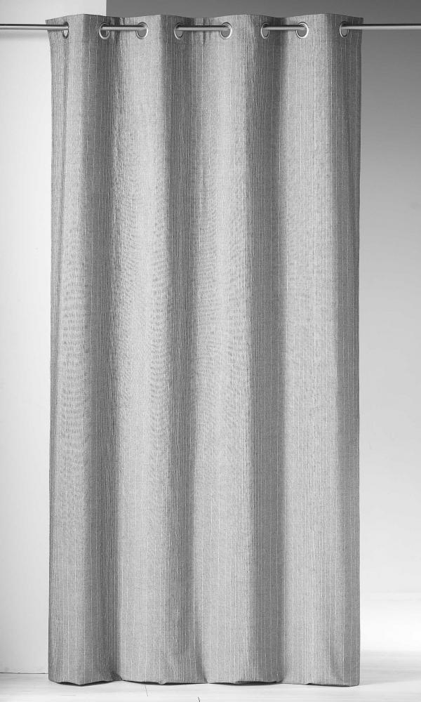 Rideau Tissé de Fils Métalliques - Gris - 140 x 260 cm