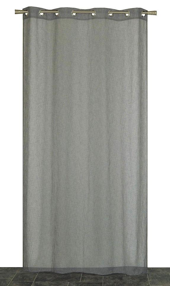 voilage l aspect lin gris galet atmosph re blanc anthracite homemaison vente. Black Bedroom Furniture Sets. Home Design Ideas