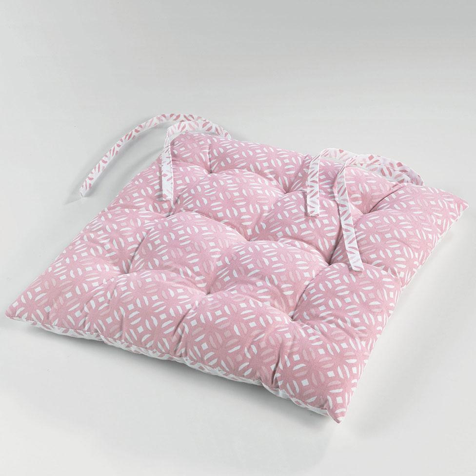 galette de chaise matelass e et imprim e rose menthe gris homemaison vente en ligne. Black Bedroom Furniture Sets. Home Design Ideas