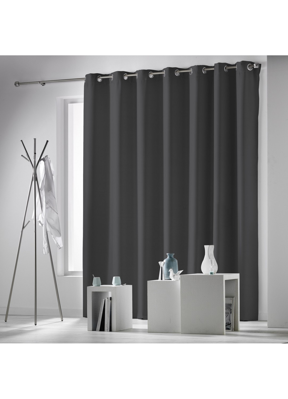 rideau uni et occultant grande dimension anthracite neige noir ivoire rouge. Black Bedroom Furniture Sets. Home Design Ideas