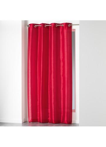 Rideau en Shantung Uni - Rouge - 140 x 280 cm