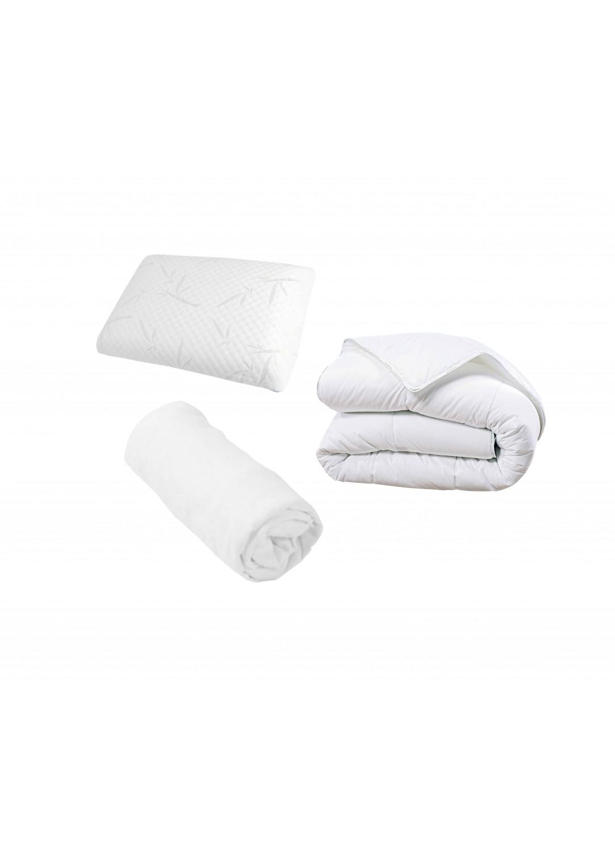 Pack complet literie blanc homemaison vente en ligne couette - Literie vente en ligne ...