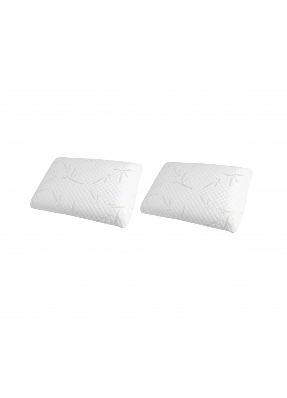 Pack de 2 Oreillers à Mémoire de Forme (Blanc)