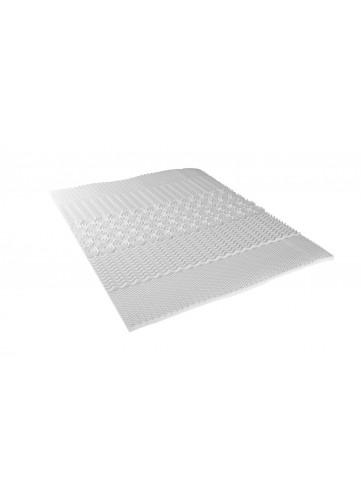 Surmatelas Profilé avec 5 Zones de Confort - Blanc - 140 x 190 cm