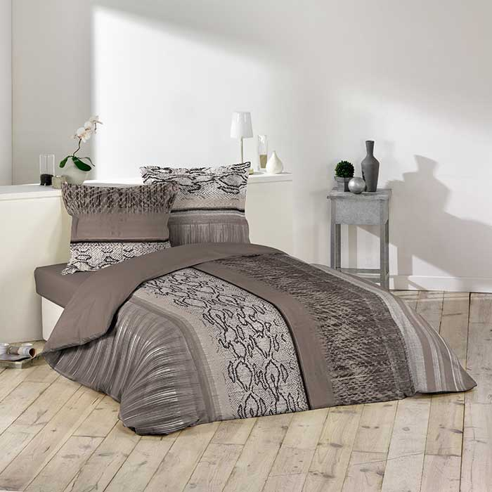 parure de couette castillo 260x240 gris homemaison vente en ligne parures de lit. Black Bedroom Furniture Sets. Home Design Ideas