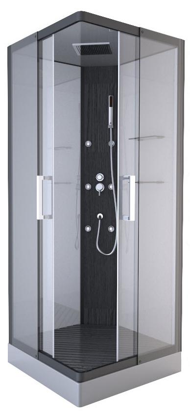 Cabine de douche pure square gris anthracite homebain - Vente cabine de douche ...