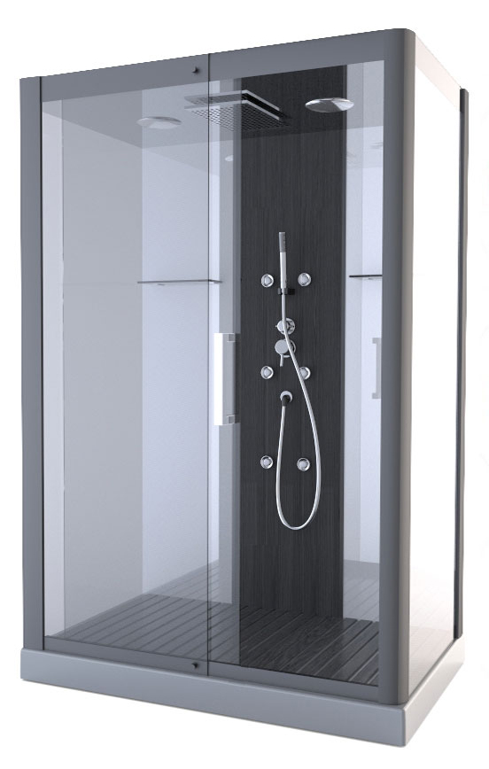 cabine de douche pure xxl gris anthracite homebain vente en ligne cabines de douche. Black Bedroom Furniture Sets. Home Design Ideas