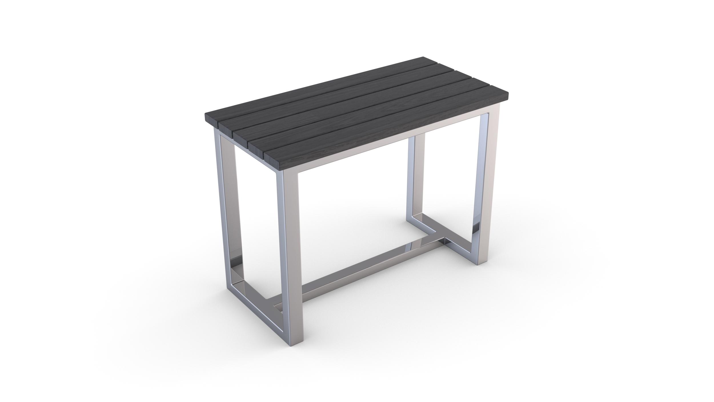 si ge en bois composite et structure en inox gris homebain vente en ligne accessoires de bain. Black Bedroom Furniture Sets. Home Design Ideas