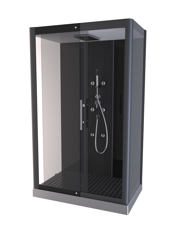 Cabine de douche phantom gris homebain vente en ligne cabines de douche - Cabine de douche noire ...