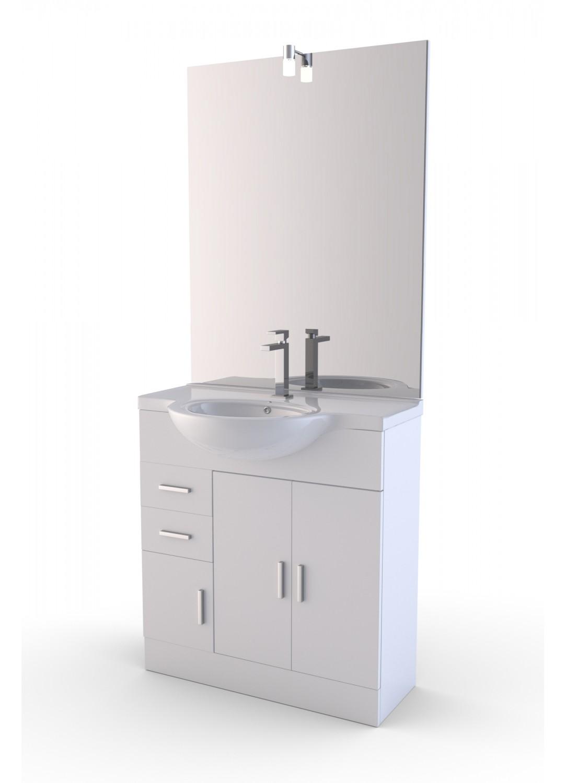 lave mains eco 82 blanc homebain vente en ligne meubles de salle de bain. Black Bedroom Furniture Sets. Home Design Ideas
