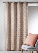 Rideau en Toile de Coton aux Imprimés Design