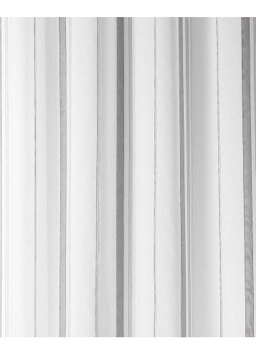 Tissu en Etamine à Rayures Verticales Fantaisies