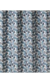 Tissu en Jacquard à Imprimés Hexagonaux (Bleu)