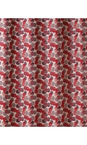 Tissu en Jacquard à Imprimés Hexagonaux (Rouge)