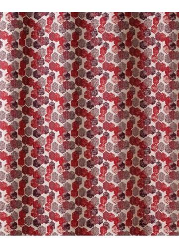 Tissu en Jacquard à Imprimés Hexagonaux