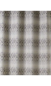 Tissu en Jacquard à Rayures Horizontales Imprimées (Taupe)