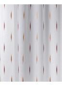 Tissu en Organza Jacquard à Imprimés Fantaisies (Terracota)