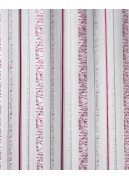 Tissu en Organza à Rayures Verticales Fantaisies (Bordeaux)
