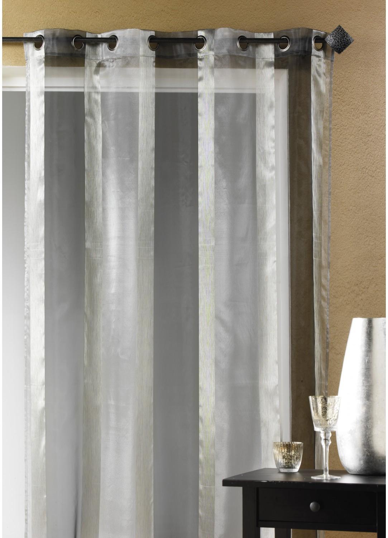 voilage organza rayure verticale argent bordeaux homemaison vente en ligne voilages. Black Bedroom Furniture Sets. Home Design Ideas