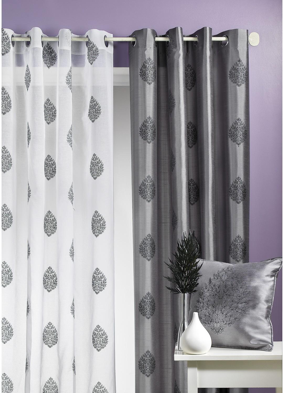dekoschal bl tter grau taupe pflaume homemaison vente en ligne gardinen. Black Bedroom Furniture Sets. Home Design Ideas