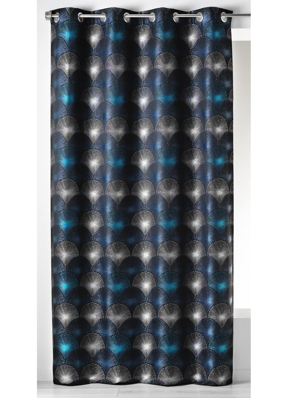 rideau gris et bleu fashion designs. Black Bedroom Furniture Sets. Home Design Ideas