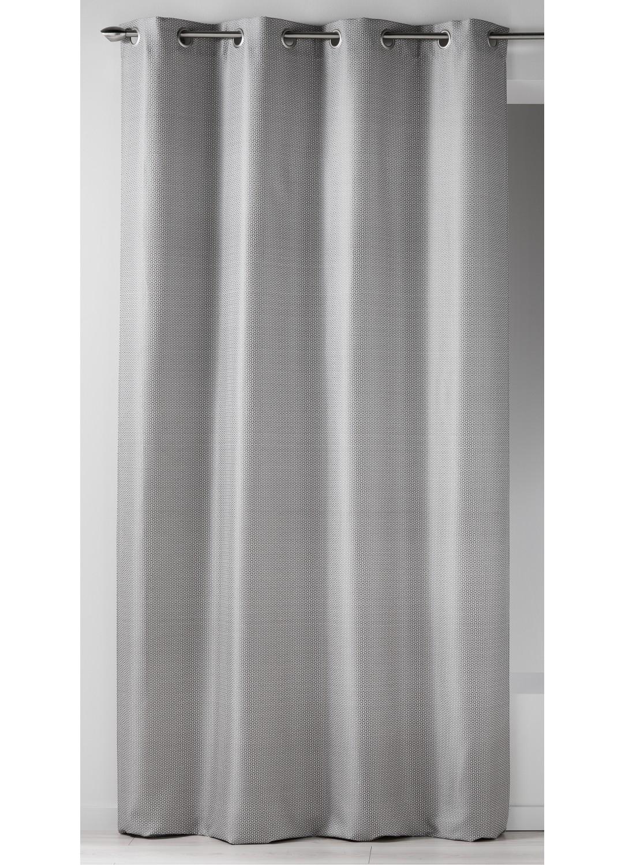 rideau en jacquard imprim s design gris gris homemaison vente en ligne rideaux. Black Bedroom Furniture Sets. Home Design Ideas