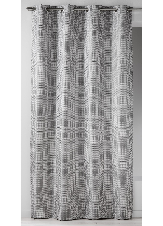 rideau en jacquard imprim s design gris gris. Black Bedroom Furniture Sets. Home Design Ideas
