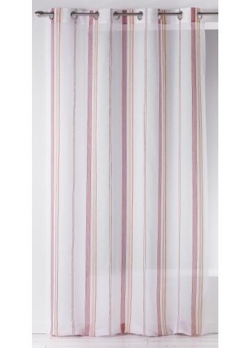 Voilage en Etamine à Rayures Verticales Fantaisies (Multicolore)