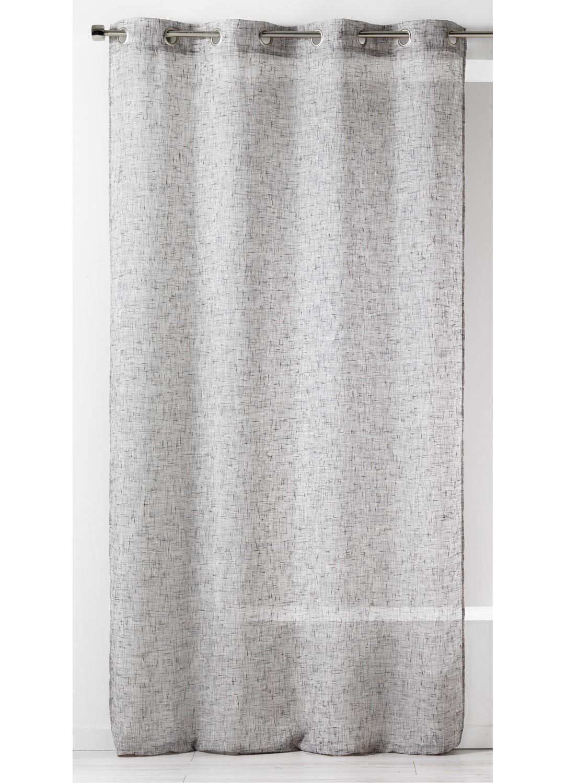 voilage uni en etamine rustique gris homemaison. Black Bedroom Furniture Sets. Home Design Ideas