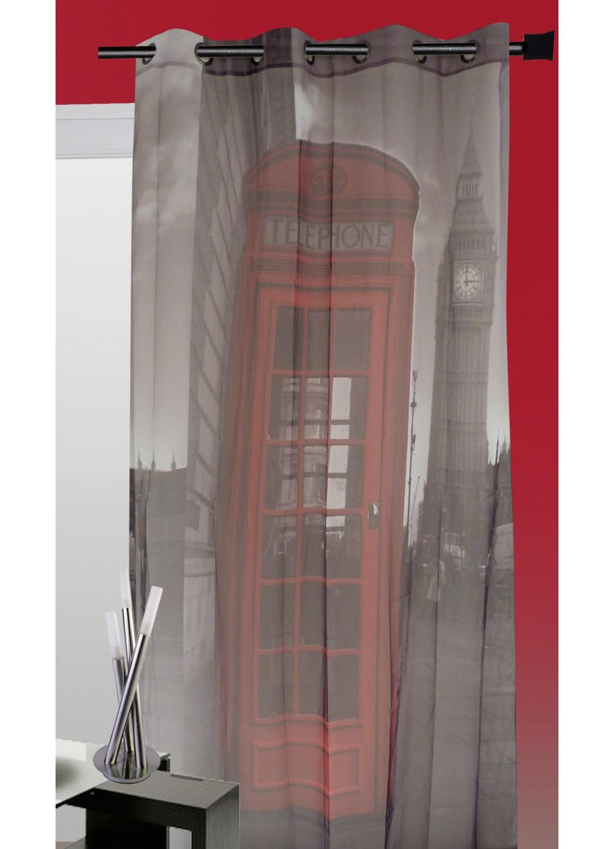 Rideau cabine téléphonique London (Gris)