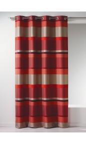 Rideau Bouchara en jacquard à rayures horizontales design