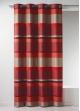 Rideau Bouchara en jacquard à rayures horizontales design  Bordeaux