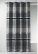 Rideau Bouchara en jacquard à rayures horizontales design  Gris