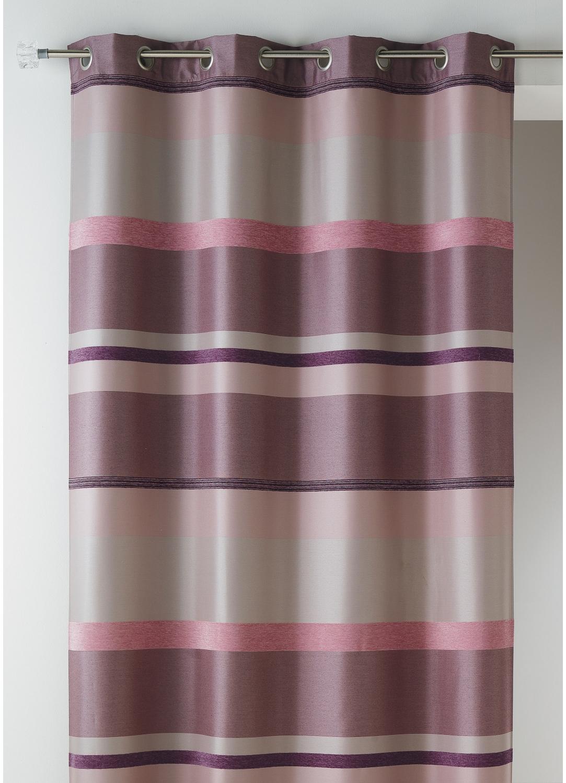 rideau bouchara en jacquard rayures horizontales design homemaison vente en ligne rideaux. Black Bedroom Furniture Sets. Home Design Ideas