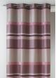 Rideau Bouchara en jacquard à rayures horizontales design  Rose Boudoir