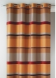 Rideau Bouchara en jacquard à rayures horizontales design  Terracotta