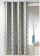 Rideau Bouchara en jacquard à rayures verticales  Bleu