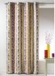 Rideau Bouchara en jacquard à rayures verticales  Multicolore