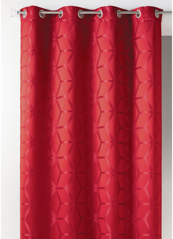 rideau en jacquard design pais bordeaux homemaison vente en ligne rideaux. Black Bedroom Furniture Sets. Home Design Ideas