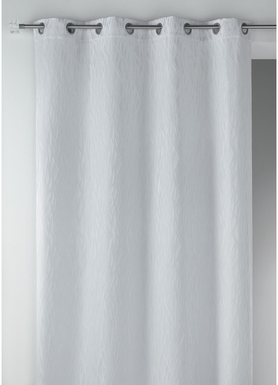 Rideau en jacquard fantaisie (Blanc)