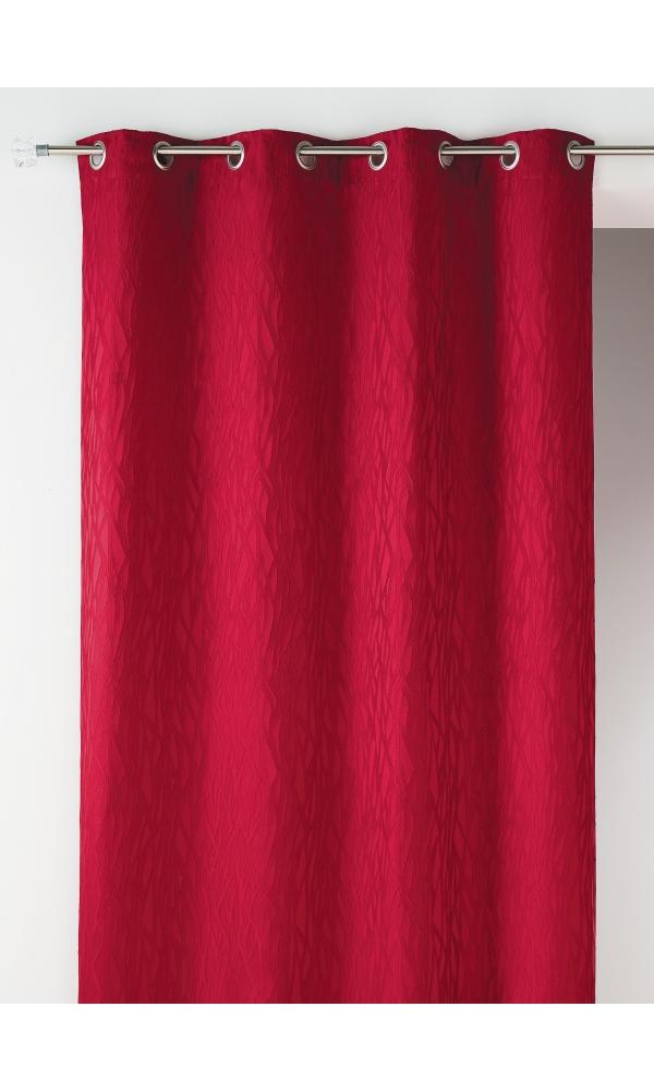 Rideau en jacquard fantaisie - Bordeaux - 135 x 260 cm