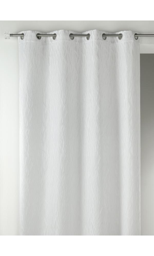 Rideau en jacquard fantaisie - Ivoire - 135 x 260 cm