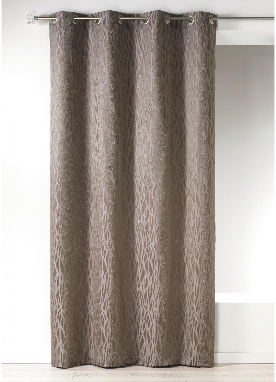 rideau en jacquard fantaisie taupe fuschia blanc bordeaux ivoire anis acqua. Black Bedroom Furniture Sets. Home Design Ideas