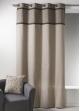 Rideau Bouchara en toile de coton avec parement à plis beige Lin